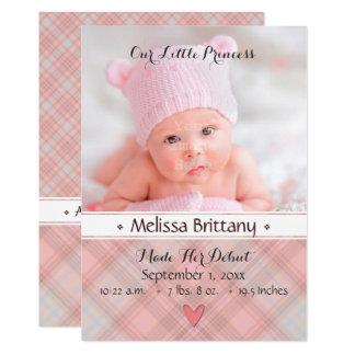 Notre petit faire-part de naissance de princesse