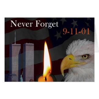 N'oubliez jamais 9-11-01 carte de vœux