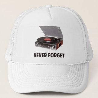 N'oubliez jamais les tourne-disques de vinyle casquette