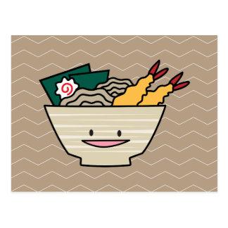 Nouilles de Japonais de crevette de nori de bol de Carte Postale