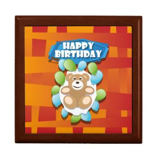 Nounours de joyeux anniversaire d'illustration boîte à souvenirs