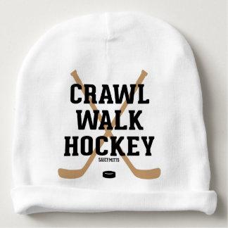 Nourrisson mignon de bébé d'hockey de promenade de bonnet pour bébé