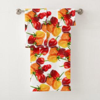 Nourriture chaude orange de poivrons rouges de