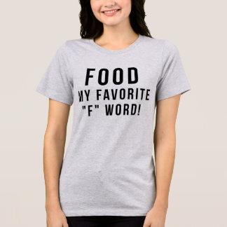 Nourriture de T-shirt de Tumblr mon mot du favori
