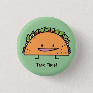 Nourriture heureuse de Mexicain de Salsa de viande Badge Rond 2,50 Cm