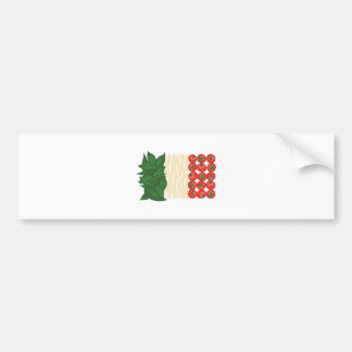 Nourriture italienne autocollant de voiture