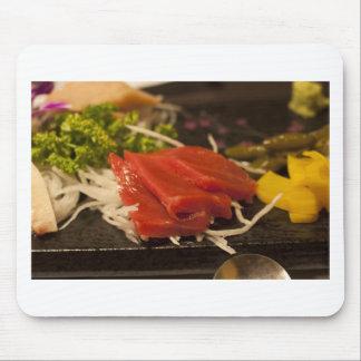 Nourriture pour poissons de temps de partie de tapis de souris