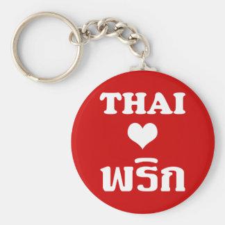 Nourriture thaïlandaise de ❤ THAÏLANDAIS de Porte-clé Rond