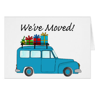 Nous avons déplacé la carte de voiture et de Noël
