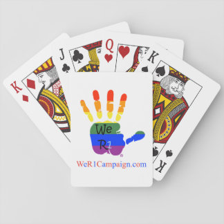 Nous carte de jeu de mains de l'arc-en-ciel R1 Jeu De Cartes