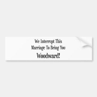 Nous interrompons ce mariage pour vous amener Wood Autocollant De Voiture