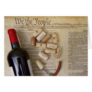 Nous la carte de voeux de vin de personnes !