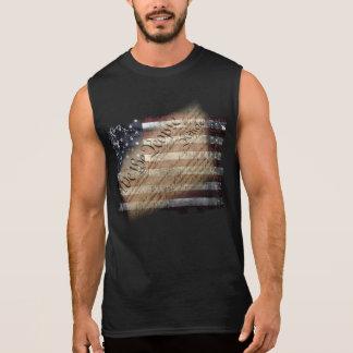 Nous la chemise sans manche de drapeau vintage des t-shirt sans manches