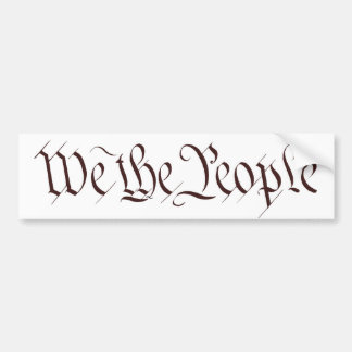 """""""Nous les personnes """" Autocollant De Voiture"""