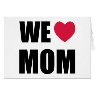 Nous maman de coeur - carte du jour de mère