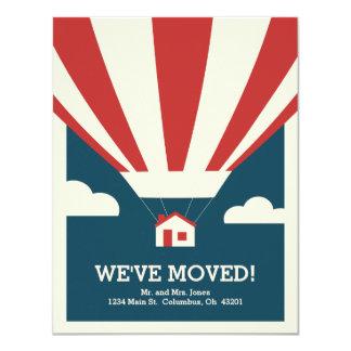 Nous nous sommes déplacés ! Carte mobile de Carton D'invitation 10,79 Cm X 13,97 Cm