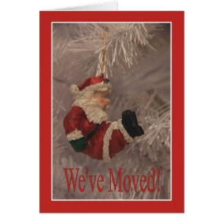 Nous nous sommes déplacés - nouvelle carte de Noël