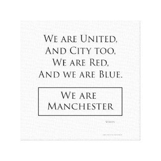 """""""Nous sommes la copie de toile de Manchester"""""""