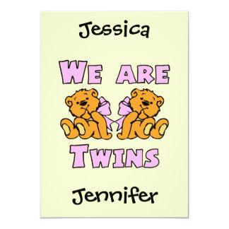 Nous sommes les jumeaux 3 carton d'invitation  12,7 cm x 17,78 cm