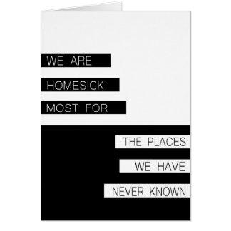 Nous sommes nostalgiques - citation inspirée, carte