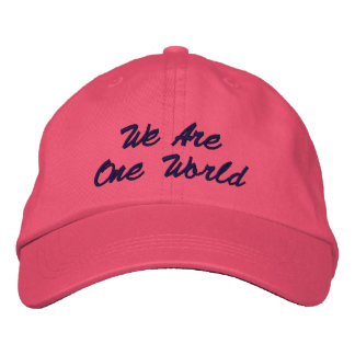 Nous sommes un casquette du monde casquette de baseball