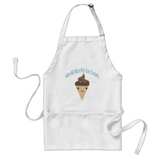 Nous tous courus pour la crème glacée tablier