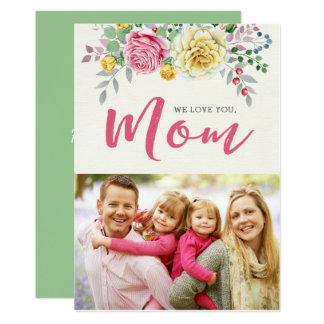 Nous vous aimons, carte plate du jour de mère de