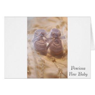 Nouveau bébé carte de vœux