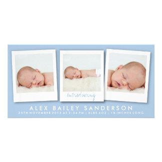 Nouveau bleu des photos | de multiple du carte pho photocarte customisée