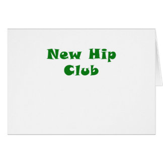 Nouveau club de hanche carte de vœux
