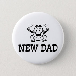 Nouveau papa badge rond 5 cm