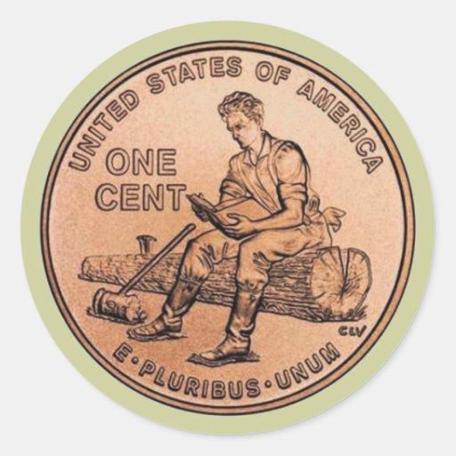 Nouveau penny 1 autocollant
