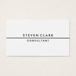 Nouveau professionnel élégant simple blanc simple cartes de visite