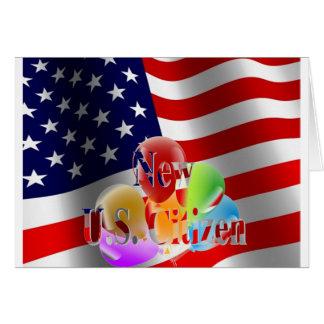 Nouveaux drapeau et ballons de citoyen des carte de vœux