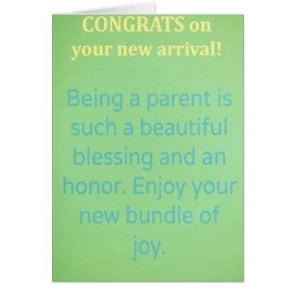Nouveaux souhaits de bébé. Félicitations ! Carte De Vœux