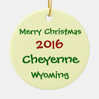 NOUVEL ORNEMENT 2016 DE JOYEUX NOËL DE CHEYENNE