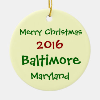 NOUVEL ORNEMENT 2016 DE NOËL DE BALTIMORE LE