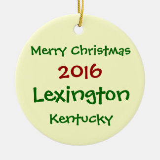 NOUVEL ORNEMENT 2016 DE NOËL DE LEXINGTON KENTUCKY