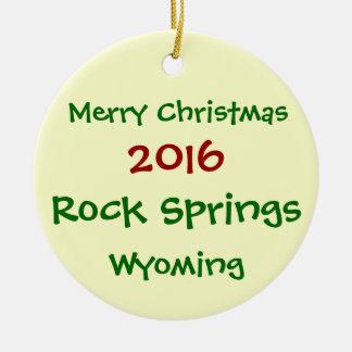 NOUVEL ORNEMENT 2016 DE NOËL DE ROCK SPRINGS