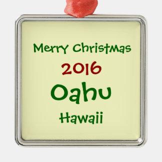 NOUVEL ORNEMENT 2016 DE VACANCES DE NOËL D'OAHU