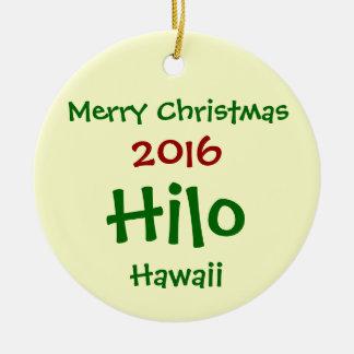 NOUVEL ORNEMENT DE JOYEUX NOËL DE 2016 HILO HAWAÏ