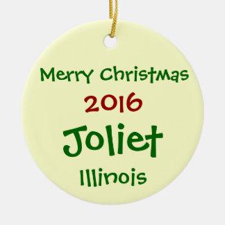 NOUVEL ORNEMENT DE JOYEUX NOËL DE 2016 JOLIET