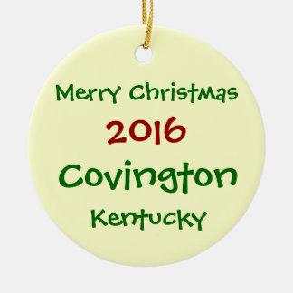 NOUVEL ORNEMENT DE NOËL DE 2016 COVINGTON KENTUCKY