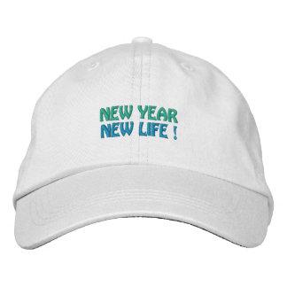 NOUVELLE ANNÉE/NOUVEAU casquette de la VIE (blanc)