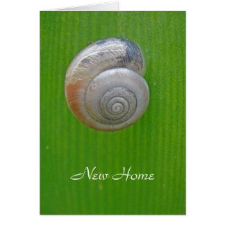 Nouvelle carte à la maison d'escargot