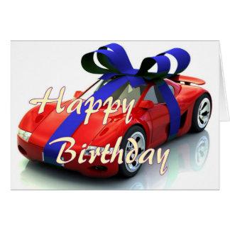 Nouvelle carte de joyeux anniversaire de voiture