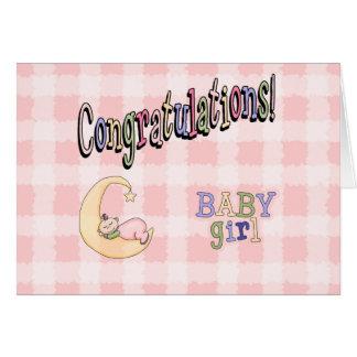 Nouvelle carte de voeux de félicitations de bébé