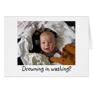 Nouvelle carte d'engagement de bébé d'amusement