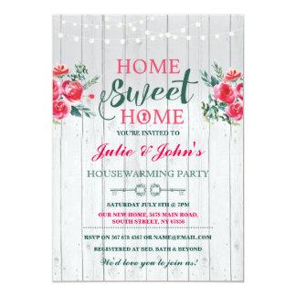 Nouvelle Chambre douce à la maison chauffant Carton D'invitation 12,7 Cm X 17,78 Cm