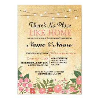 Nouvelle maison chauffant l'invitation doux carton d'invitation  12,7 cm x 17,78 cm